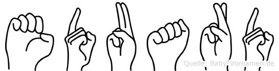 Eduard in Fingersprache für Gehörlose
