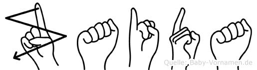 Zaida im Fingeralphabet der Deutschen Gebärdensprache