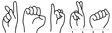 Keira im Fingeralphabet der Deutschen Gebärdensprache