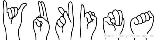 Yukina im Fingeralphabet der Deutschen Gebärdensprache