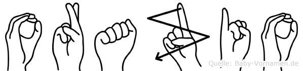 Orazio im Fingeralphabet der Deutschen Gebärdensprache