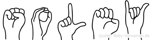 Soley im Fingeralphabet der Deutschen Gebärdensprache