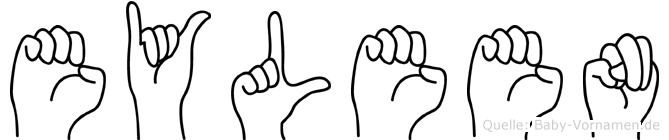 Eyleen im Fingeralphabet der Deutschen Gebärdensprache