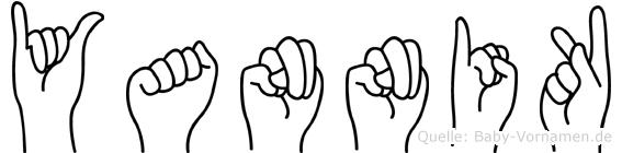 Yannik im Fingeralphabet der Deutschen Gebärdensprache