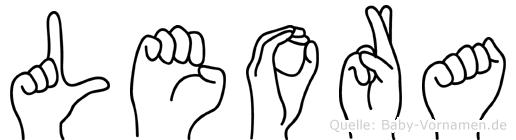 Leora in Fingersprache für Gehörlose