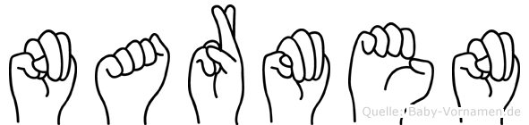 Narmen in Fingersprache für Gehörlose
