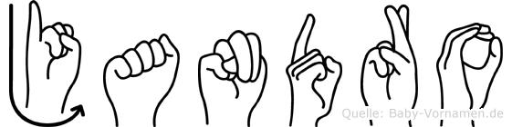 Jandro im Fingeralphabet der Deutschen Gebärdensprache