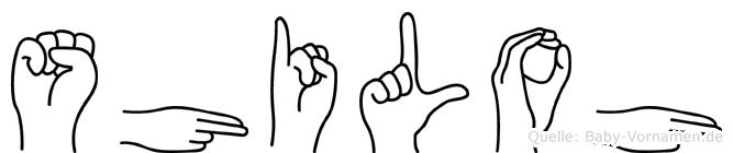 Shiloh in Fingersprache für Gehörlose