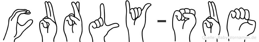 Curly-Sue im Fingeralphabet der Deutschen Gebärdensprache