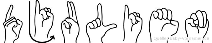 Djulien in Fingersprache für Gehörlose