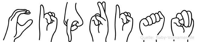 Ciprian in Fingersprache für Gehörlose