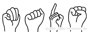 Mads in Fingersprache für Gehörlose