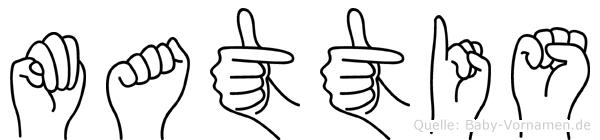 Mattis in Fingersprache für Gehörlose