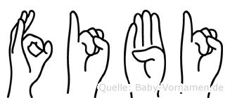 Fibi im Fingeralphabet der Deutschen Gebärdensprache
