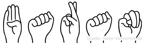 Baran im Fingeralphabet der Deutschen Gebärdensprache