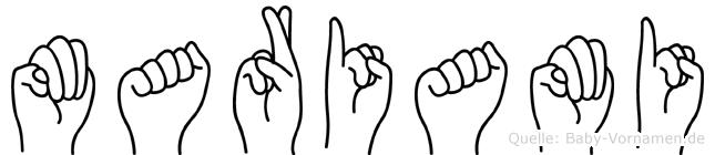Mariami in Fingersprache für Gehörlose