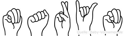 Maryn im Fingeralphabet der Deutschen Gebärdensprache