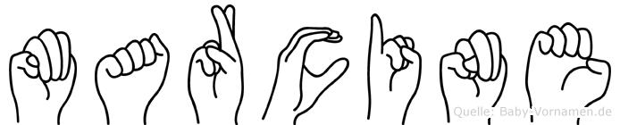 Marcine in Fingersprache für Gehörlose
