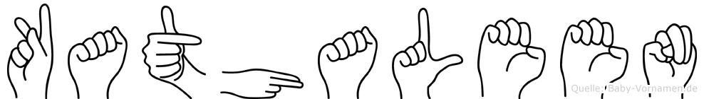 Kathaleen in Fingersprache für Gehörlose