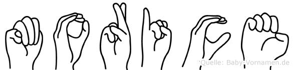 Morice in Fingersprache für Gehörlose