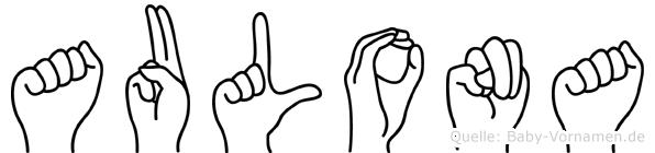 Aulona in Fingersprache für Gehörlose