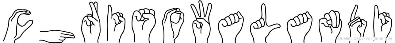 Chrisowalandi im Fingeralphabet der Deutschen Gebärdensprache