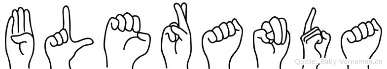 Bleranda im Fingeralphabet der Deutschen Gebärdensprache