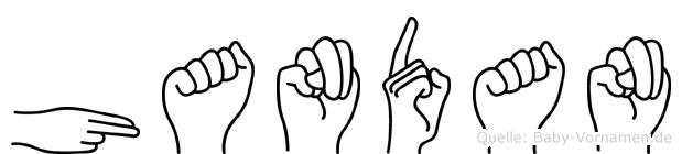 Handan im Fingeralphabet der Deutschen Gebärdensprache