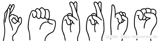 Ferris im Fingeralphabet der Deutschen Gebärdensprache