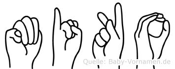 Miko in Fingersprache für Gehörlose