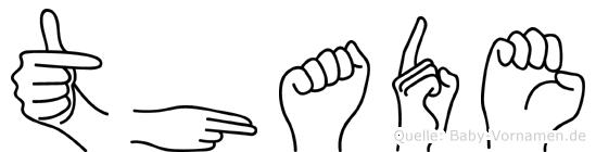 Thade im Fingeralphabet der Deutschen Gebärdensprache