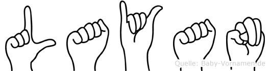 Layan im Fingeralphabet der Deutschen Gebärdensprache