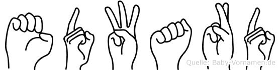 Edward in Fingersprache für Gehörlose