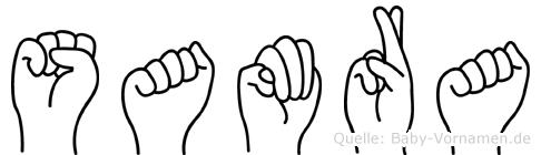 Samra im Fingeralphabet der Deutschen Gebärdensprache
