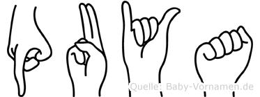 Puya in Fingersprache für Gehörlose