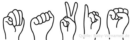 Mavis in Fingersprache für Gehörlose