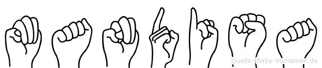 Mandisa in Fingersprache für Gehörlose