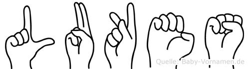 Lukes in Fingersprache für Gehörlose