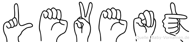 Levent im Fingeralphabet der Deutschen Gebärdensprache