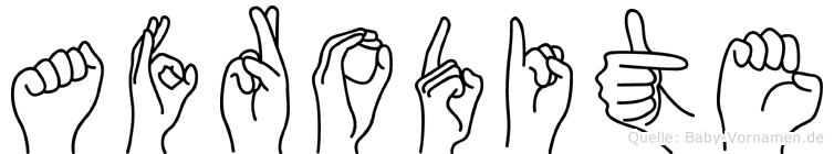 Afrodite im Fingeralphabet der Deutschen Gebärdensprache