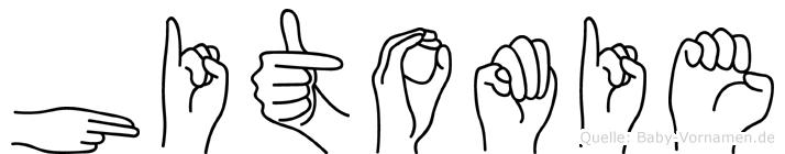Hitomie in Fingersprache für Gehörlose