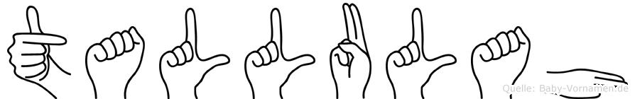 Tallulah in Fingersprache für Gehörlose