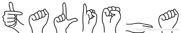 Talisha in Fingersprache für Gehörlose