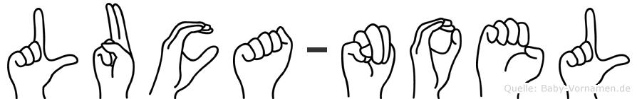Luca-Noel im Fingeralphabet der Deutschen Gebärdensprache