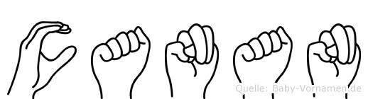 Canan in Fingersprache für Gehörlose