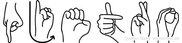 Pjetro in Fingersprache für Gehörlose