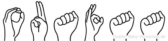 Ouafaa in Fingersprache für Gehörlose