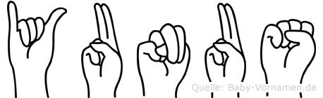 Yunus im Fingeralphabet der Deutschen Gebärdensprache