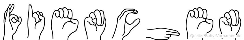 Fienchen im Fingeralphabet der Deutschen Gebärdensprache