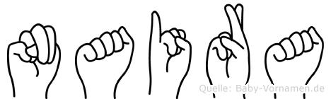 Naira in Fingersprache für Gehörlose